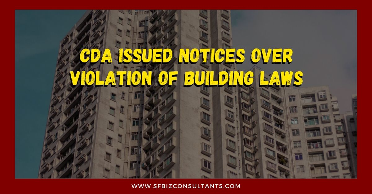 CDA Issued Notices