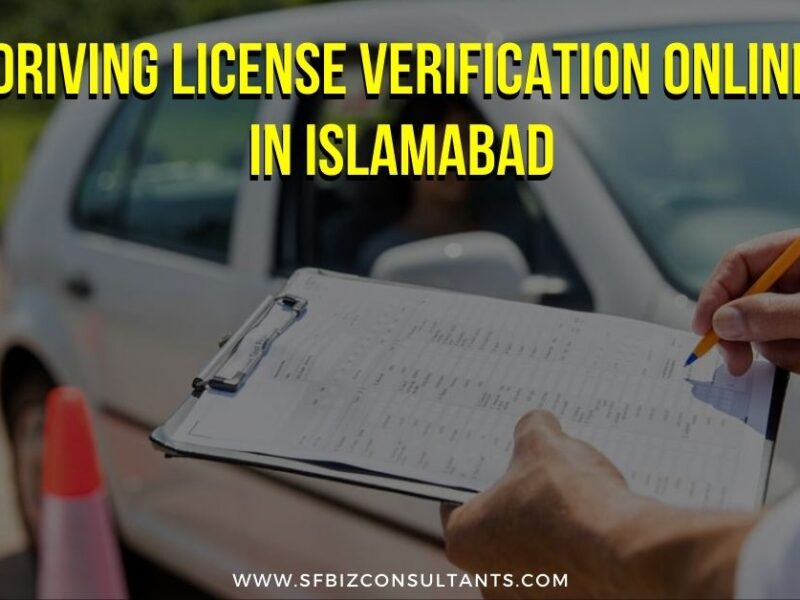 Driving License Verification Online in Islamabad